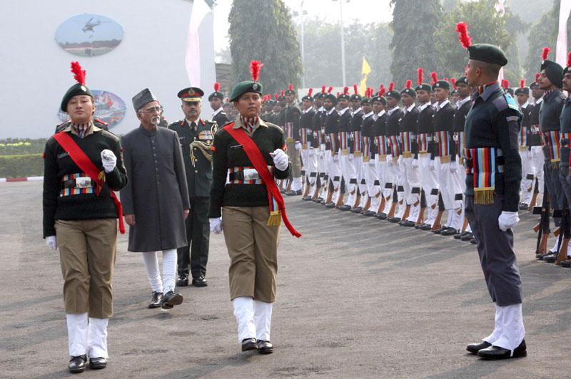 The Vice President, Mr. Mohd. Hamid Ansari inspecting the guard of honour at the inauguration of the NCC Republic Day Camp 2016, in New Delhi on January 06, 2016.