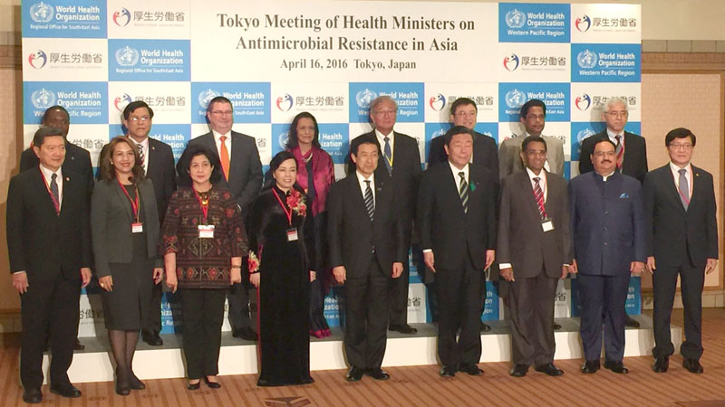 The Union Minister for Health & Family Welfare, Mr. J.P. Nadda at the Asian Health Ministers' meeting on Antimicrobial Resistance, at Tokyo, Japan on April 16, 2016.