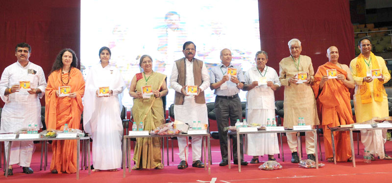 The Minister of State for AYUSH (Independent Charge) and Health & Family Welfare, Mr. Shripad Yesso Naik at the inauguration of the International Yoga Festival, in New Delhi on April 20, 2016.