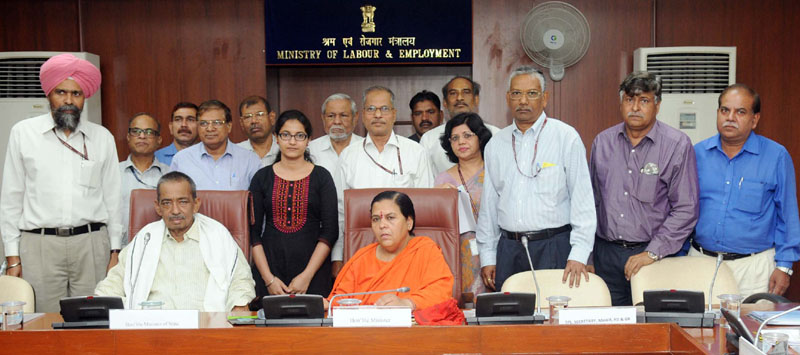 The Union Minister for Water Resources, River Development and Ganga Rejuvenation, Sushri Uma Bharti chairing the meeting of the Advisory Board of National Water Mission, in New Delhi on April 26, 2016. The Minister of State for Water Resources, River Development & Ganga Rejuvenation, Mr. Sanwar Lal Jat is also seen.