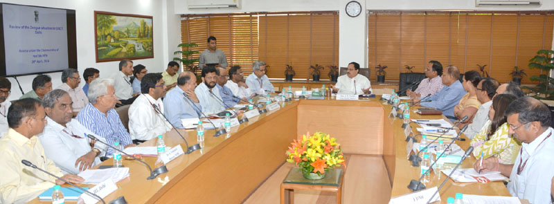 The Union Minister for Health & Family Welfare, Mr. J.P. Nadda chairing the high level review meeting on preparedness regarding Dengue situation, in New Delhi on April 29, 2016. The Secretary (Health and Family Welfare), Mr. B.P. Sharma is also seen.