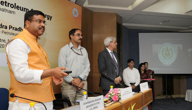The Minister of State for Petroleum and Natural Gas (Independent Charge), Mr. Dharmendra Pradhan launching the website of Indian Institute of Petroleum & Energy, Visakhapatnam, in New Delhi on May 27, 2016.