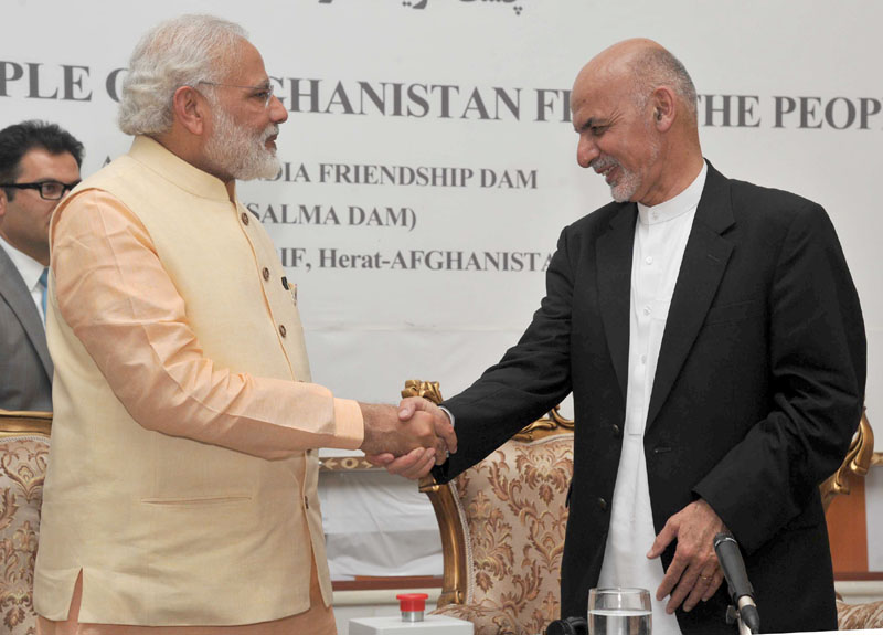 The Prime Minister, Mr. Narendra Modi being conferred on the Highest Civilian Honour of Afghanistan (Amir Amanullah Khan Award) by the President of the Islamic Republic of Afghanistan, Mr. Mohammad Ashraf Ghani, in Herat, Afghanistan on June 04, 2016.