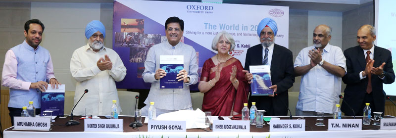 The Minister of State (Independent Charge) for Power, Coal and New and Renewable Energy, Mr. Piyush Goyal releasing a book - 'The World in 2050: Striving for a More Just, Prosperous and Harmonious Global Community', in New Delhi on June 07, 2016.
