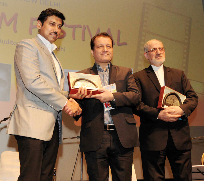 The Minister of State for Information & Broadcasting, Col. Rajyavardhan Singh at the inauguration of the Iranian Film Festival, in New Delhi on July 16, 2016.
