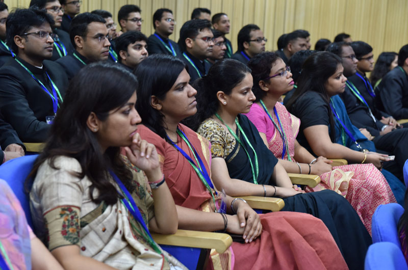 IAS Officers of 2014 batch listening to the Prime Minister, Mr. Narendra Modi, in New Delhi on August 02, 2016.
