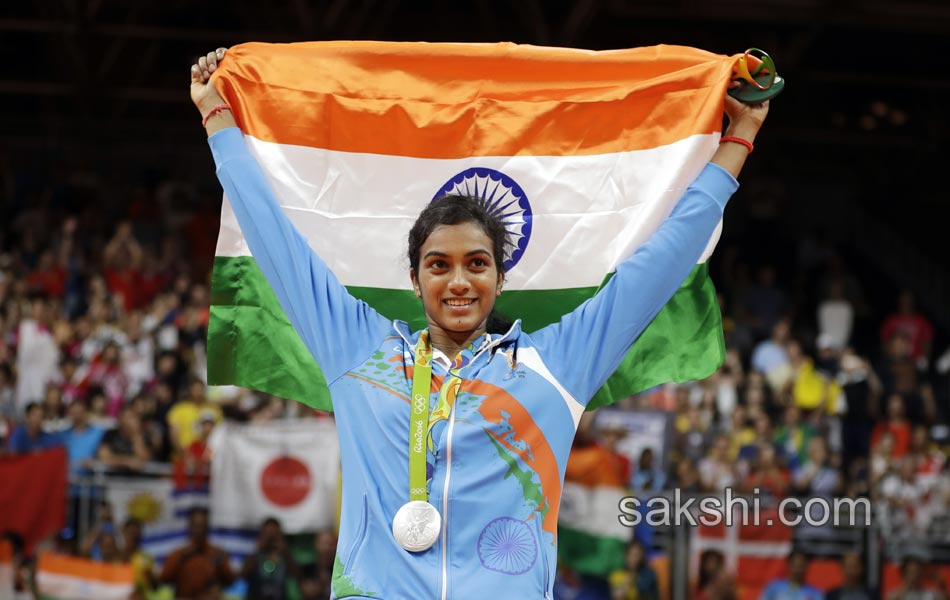 Ms. P. V. Sindhu has won a Silver Medal at the Rio Olympics. (Picture Source: Saakshi)