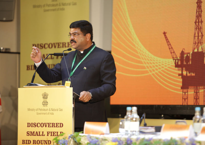 The Minister of State for Petroleum and Natural Gas (Independent Charge), Mr. Dharmendra Pradhan taking part in a road show for small discovered gas field, in London, UK on September 12, 2016.