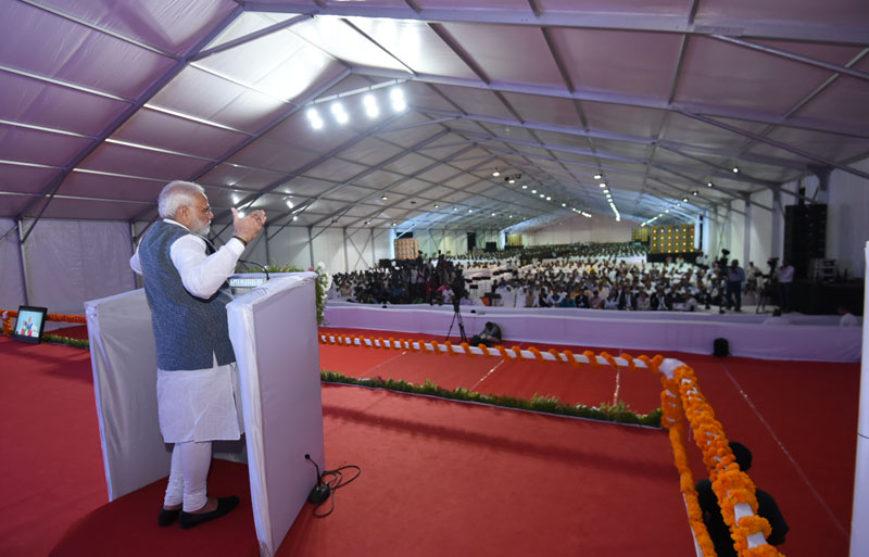 The Prime Minister, Mr. Narendra Modi addressing the International Conference and Exhibition on Sugarcane Value Chain-Vision 2025 Sugar, in Pune, Maharashtra on November 13, 2016.