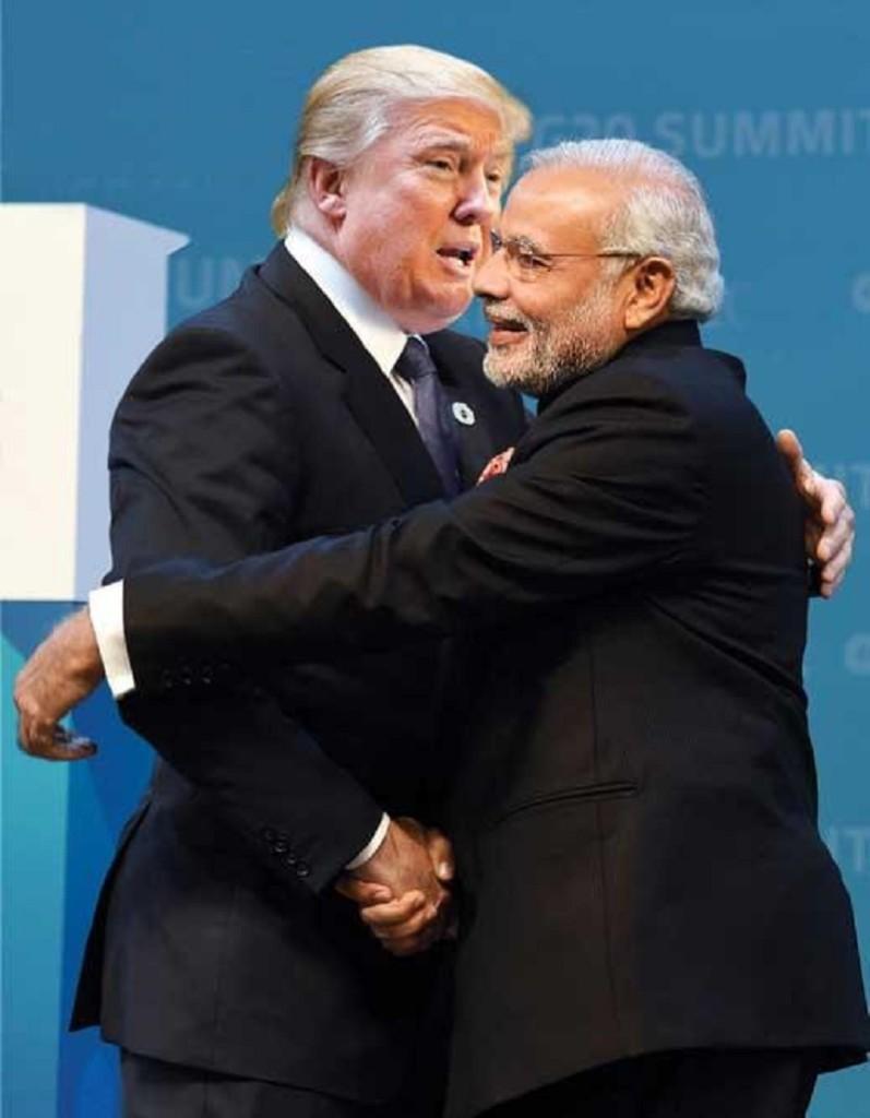 Mr. Donald Trump and Mr. Narendra Modi (Picture Source: OPEN Magazine)